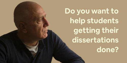 Become a dissertation Supervisor for Students in need